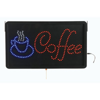 Coffee - LED Window Sign