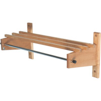 Deluxe Wood Coat Rack, Hardwood Top Bars