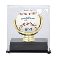 Gold Glove Single Ball Display Case with MLB Team Logo