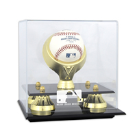 Golden Classic Single Ball Display Case with MLB Team Logo