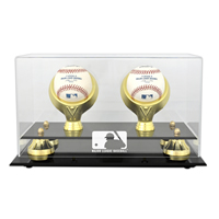 Golden Classic Two Ball Display Case with MLB Team Logo