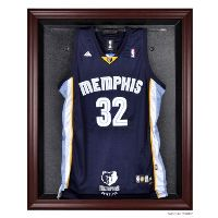 Mahogany Framed Jersey Display Case with NBA Team Logo