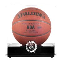 Blackbase Basketball Display Case with NBA Team Logo