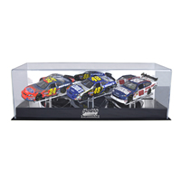 NASCAR 1/24th Scale Die Cast Three Car Display Case w/ Platform