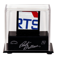 NASCAR Used Sheet Metal Display Case with Logo