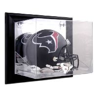 cefa2664 Black Framed Wall Mounted Helmet Display Case with NFL Team Logo