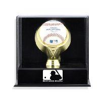 Wall Mounted Single Ball Display Case with MLB Team Logo