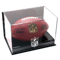 Wall Mounted Football Display Case with NFL Team Logo