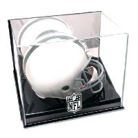Wall Mounted Helmet Display Case with NFL Team Logo