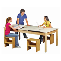 Four Station Drawing Table