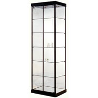 GL10 Wood Veneer Rectangular Tower Display Case
