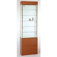 GL102 Wood Veneer Rectangular Wall Display Case
