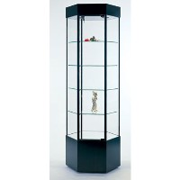 GL103 Hexagonal Tower Display Case