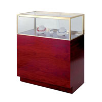 GL108 Wood Veneer Quarter-Vision Jewelry Display Case