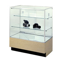 GL109 Wood Veneer Full-Vision Jewelry Display Case