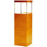 GL112 Wood Veneer Pedestal Display Case