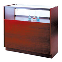 GL113 Wood Veneer Quarter-Vision Jewelry Display Case