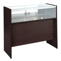GL118 Wood Veneer Quarter-Vision Jewelry Display Case