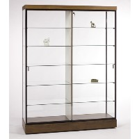 GL608 Rectangular Wall Display Case with Divider