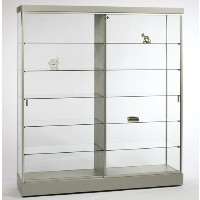 GL609 Rectangular Wall Display Case with Divider
