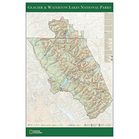 Glacier/Waterton Lakes National Park Poster