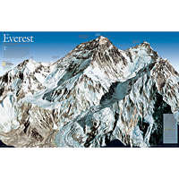 Mount Everest/Himalayas Wall Maps