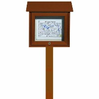 Park Ranger Outpost Series Bulletin Board with Mounting Post
