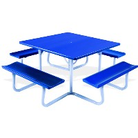 4' Square Aluminum Picnic Table