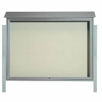 Park Ranger Series Top Hinged Single Door Bulletin Board with Mounting Posts