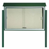 Top Product: Park Ranger Series Sliding Door Bulletin Board with Mounting Posts