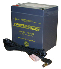 12V 5 Amp Rechargeable Battery Black Floor Lectern - Premier