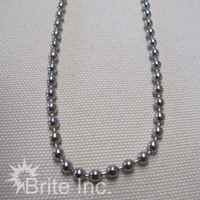 #10 Nickel Plated Beaded Chain