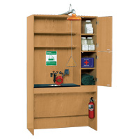 ADA First Aid Storage Shelf with Shower