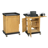 Smart Cart Lectern: Computer Laptop Lectern