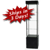 SFL900 Square Tower Display Case