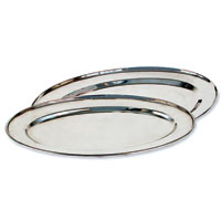 Stainless Steel Oval Service Trays