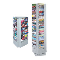 Steel Rotary Magazine and Brochure Display Racks
