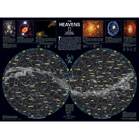 The Heavens Wall Map - Space