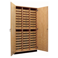 Locking Storage Cabinet with Trays