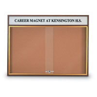 Wood Sliding Door Corkboards