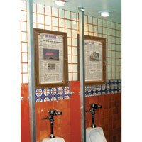 Restroom Boards with Aluminum Frame - Satin Aluminum
