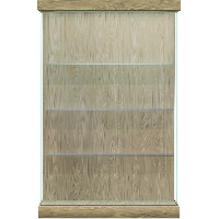 Vantage Lighted Floor Display Case - Right Sliding Door