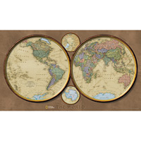 Wall Maps - World Hemispheres