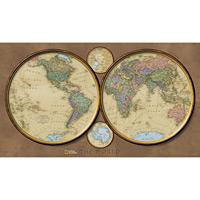 Wall Maps - World Hemispheres