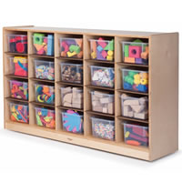 Clear Tote-Tray Single Storage Cabinet