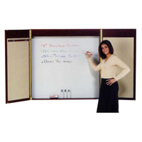 Conference Room Cabinets with Magnetic White Markerboard