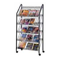 Wired™ Mobile Literature Display Rack
