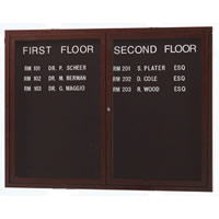 Indoor Directory Boards with Wood-Look Finish