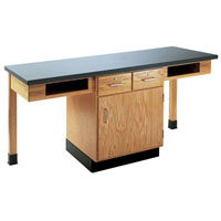 2 Student Science Table with Storage Cabinet
