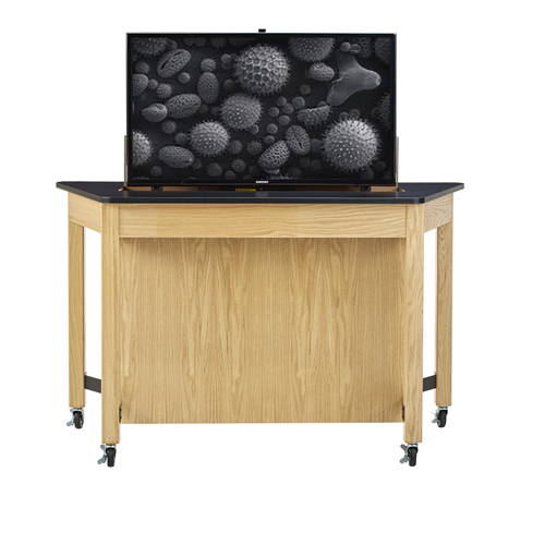 Media Trapezoid Table